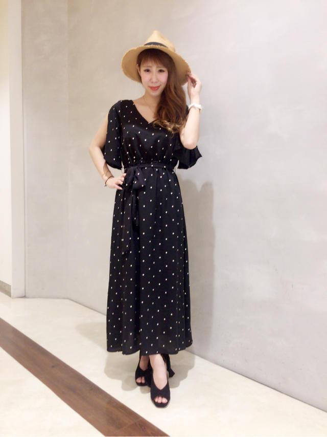 Polka dots one piece dress