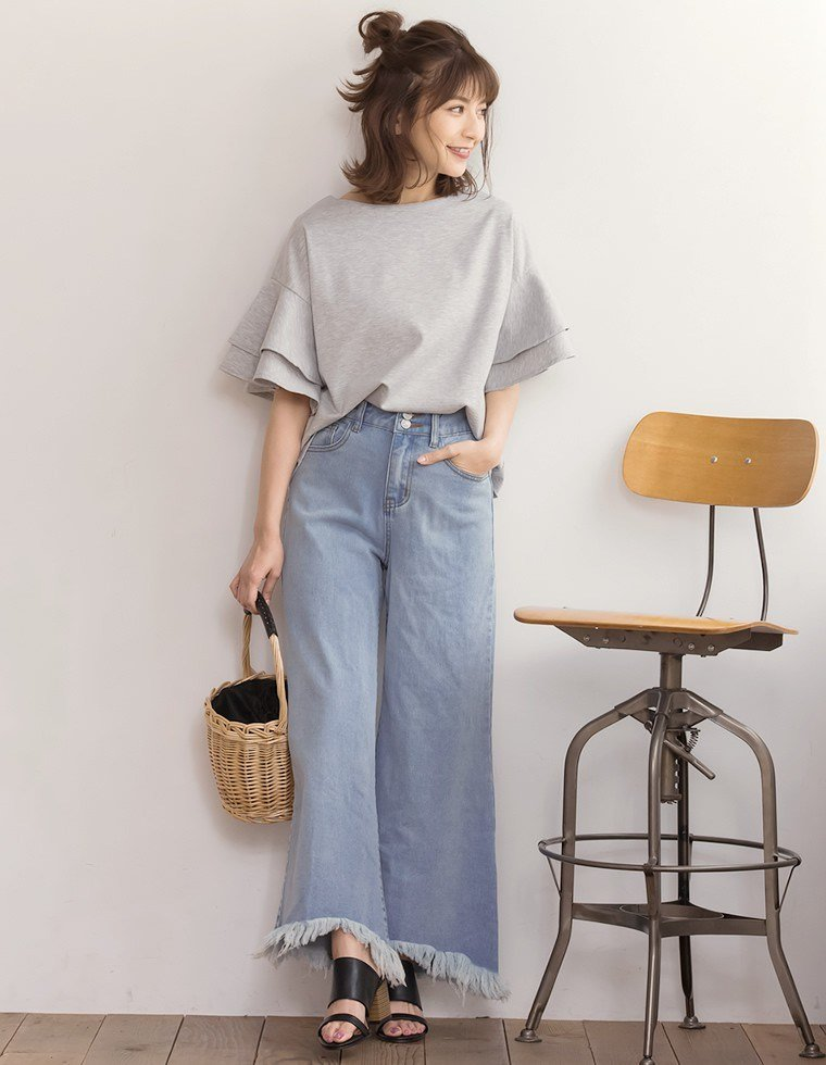 Japanese fashion trend blue with pants