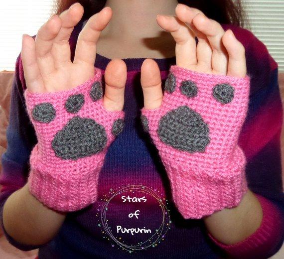Kawaii cat stuff kitten glove